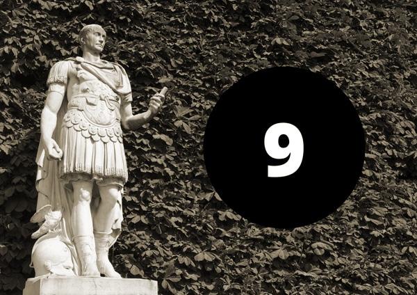 Cäser und die Zahl 9