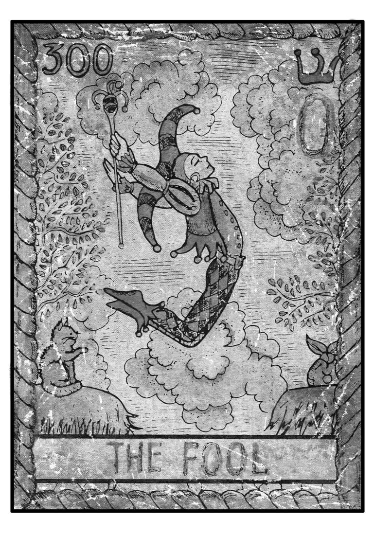 Der Narr im Tarot, Darstellung einer Karte