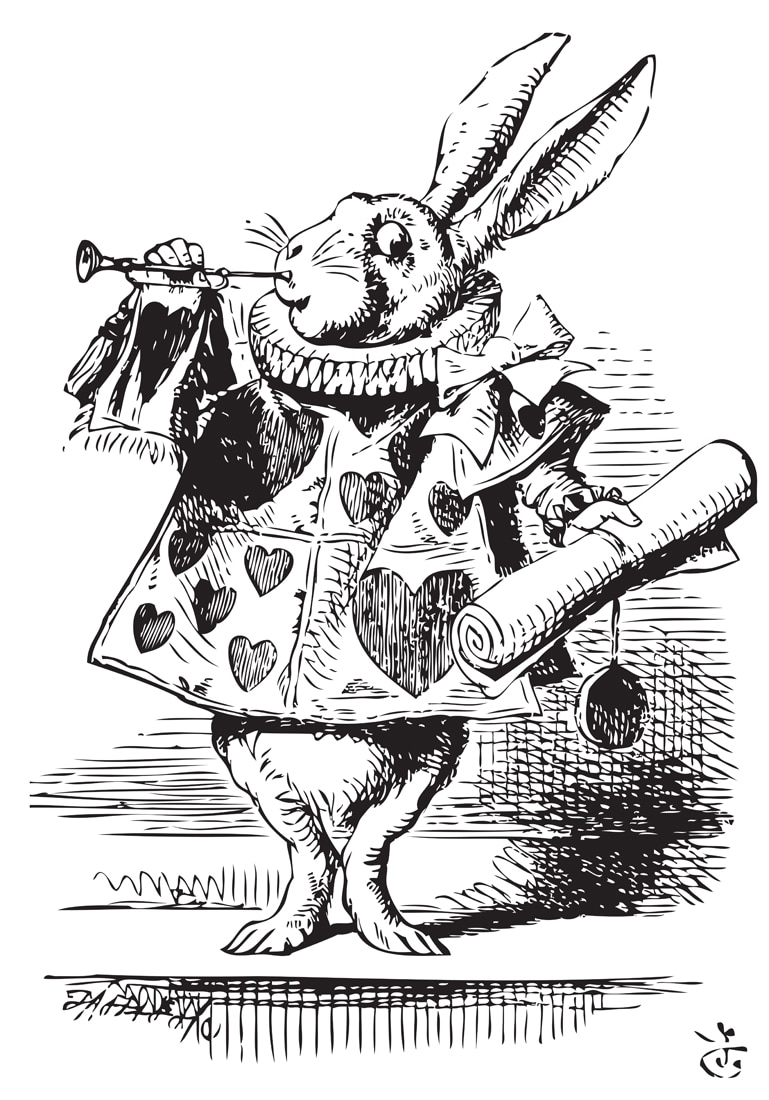 Ein magischer Hase aus Alice im Wunderland